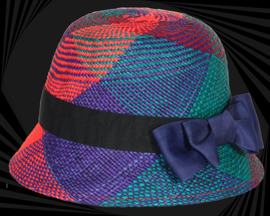 Sombrero de paja toquilla multicolor de mujer 38f24e8d2b3