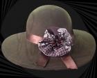 Sombrero de mujer de fieltro con lazo